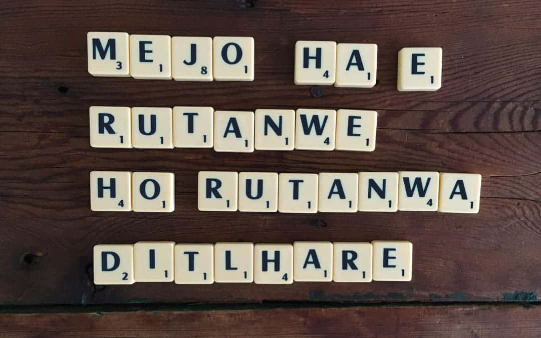 Mejo ha e rutwanwe, ho rutanwa ditlhare – You are in charge of your own future